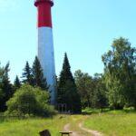 Naissaare tuletorn - ülalt punane, alt valge
