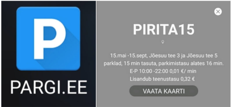 parkimine-Pirital-appiga
