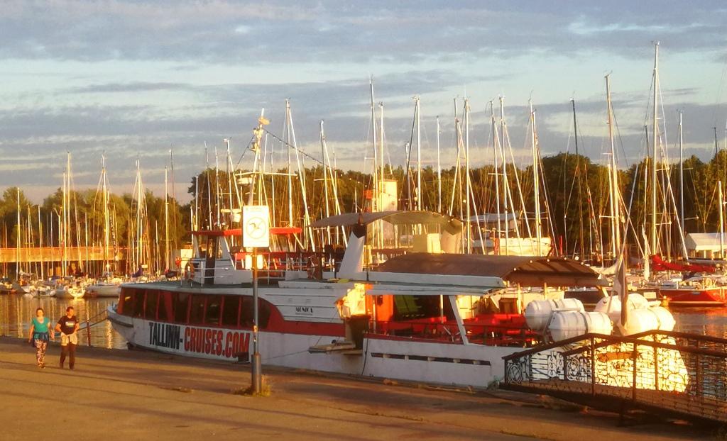 Naissaare ja Aegna laevade asukoht Pirital, reisilaev MONICA